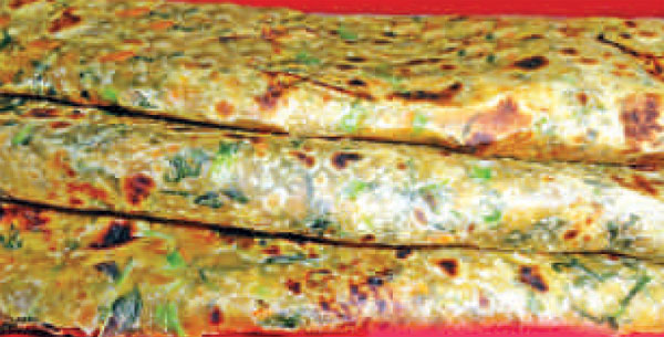 Hot & Healthy : Amaranth Carrot Parantha