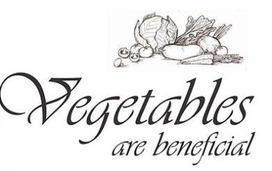 Vegetables are beneficial