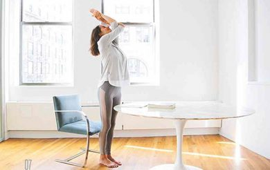 An Office Yoga Sequence to  Restore & Rejuvenate
