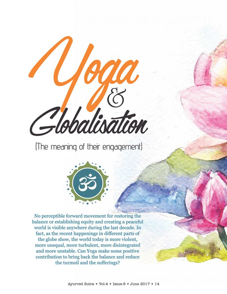 Ayurvedsutra Vol 04 issue 08 16 791x1024 - Yoga  and  Globalisation