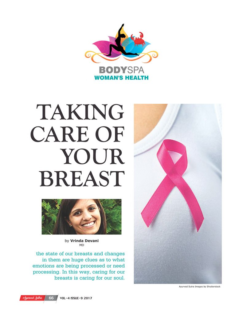 Ayurvedsutra Vol 04 issue 09 68 791x1024 - Taking Care of your Breast