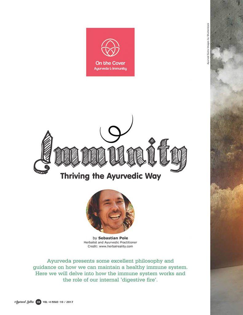 Ayurvedsutra Vol 04 issue 10 10 791x1024 - Immunity: Thriving the Ayurvedic Way