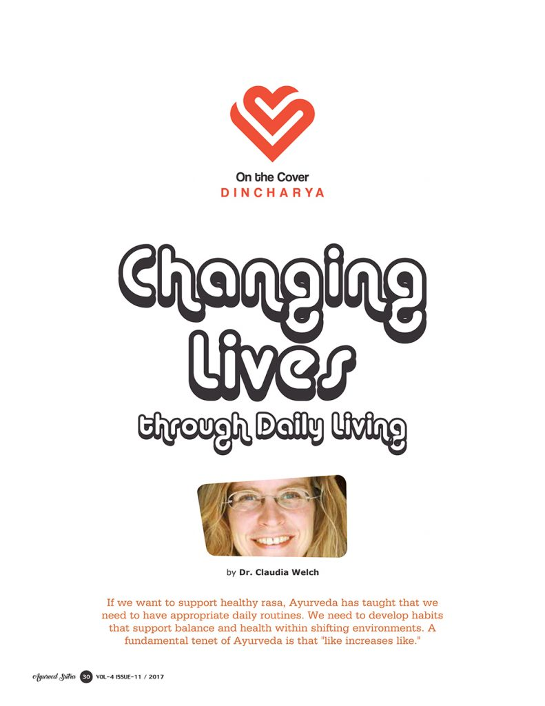 Ayurvedsutra Vol 04 issue 11 32 791x1024 - Changing Lives through Daily Living