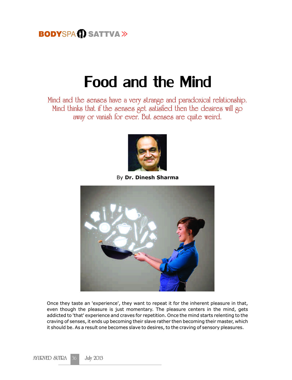 Ayurvedsutra Vol 01 issue 03 038 - Food and the Mind