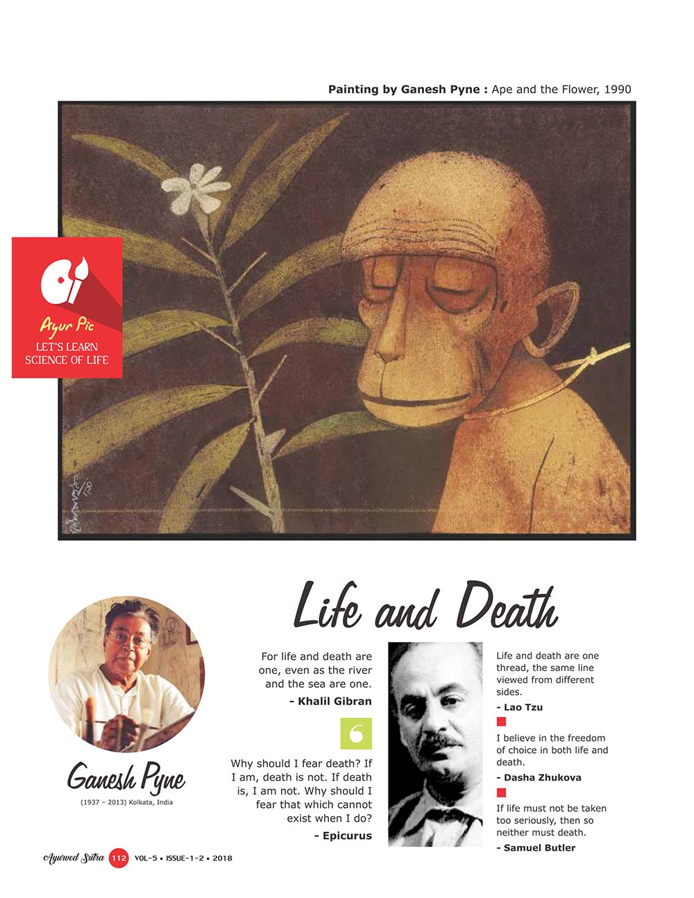 Ayurvedsutra Vol 05 issue 01 02 114 - Life and Death