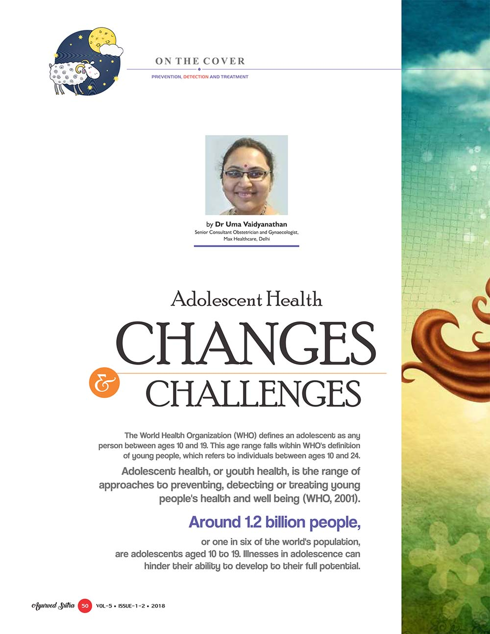 Ayurvedsutra Vol 05 issue 01 02 52 - Adolescent Health: Changes and Challenges