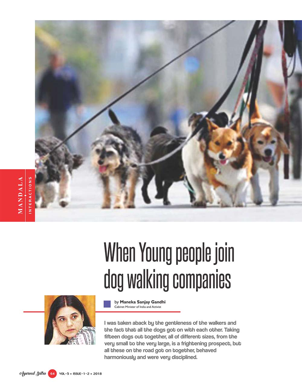 Ayurvedsutra Vol 05 issue 01 02 66 - When Young people join dog walking companies