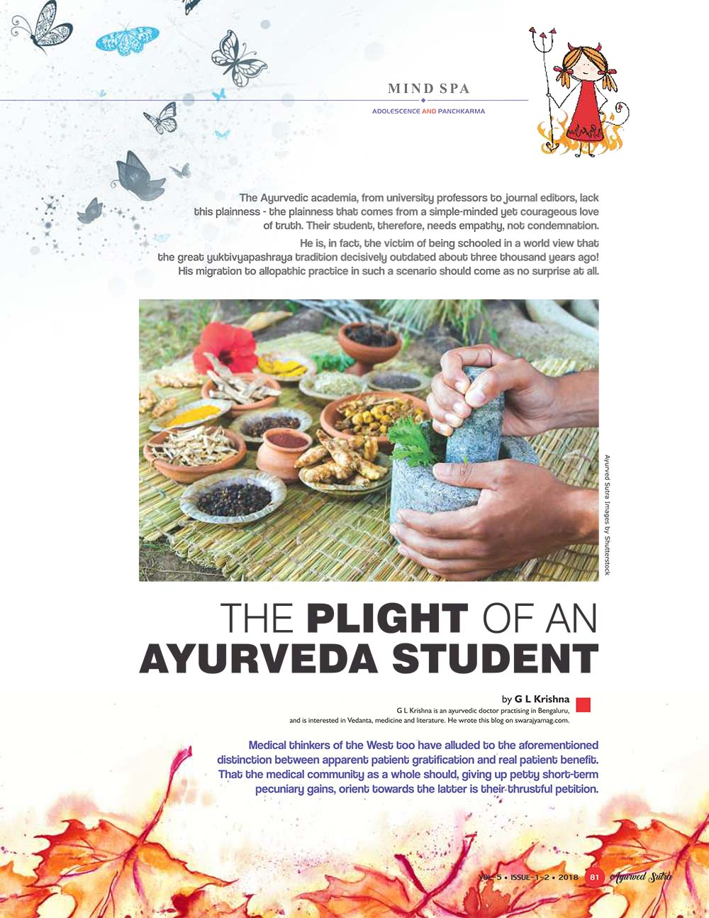 Ayurvedsutra Vol 05 issue 01 02 83 - The plight of an Ayurveda Student