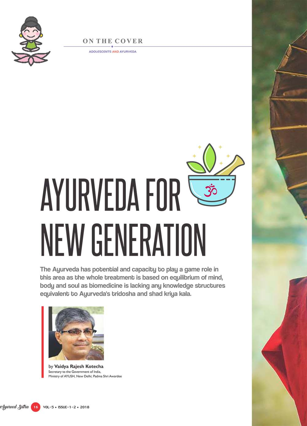 Ayurvedsutra Vol 05 issue 01 02 18 - Ayurveda for new generation