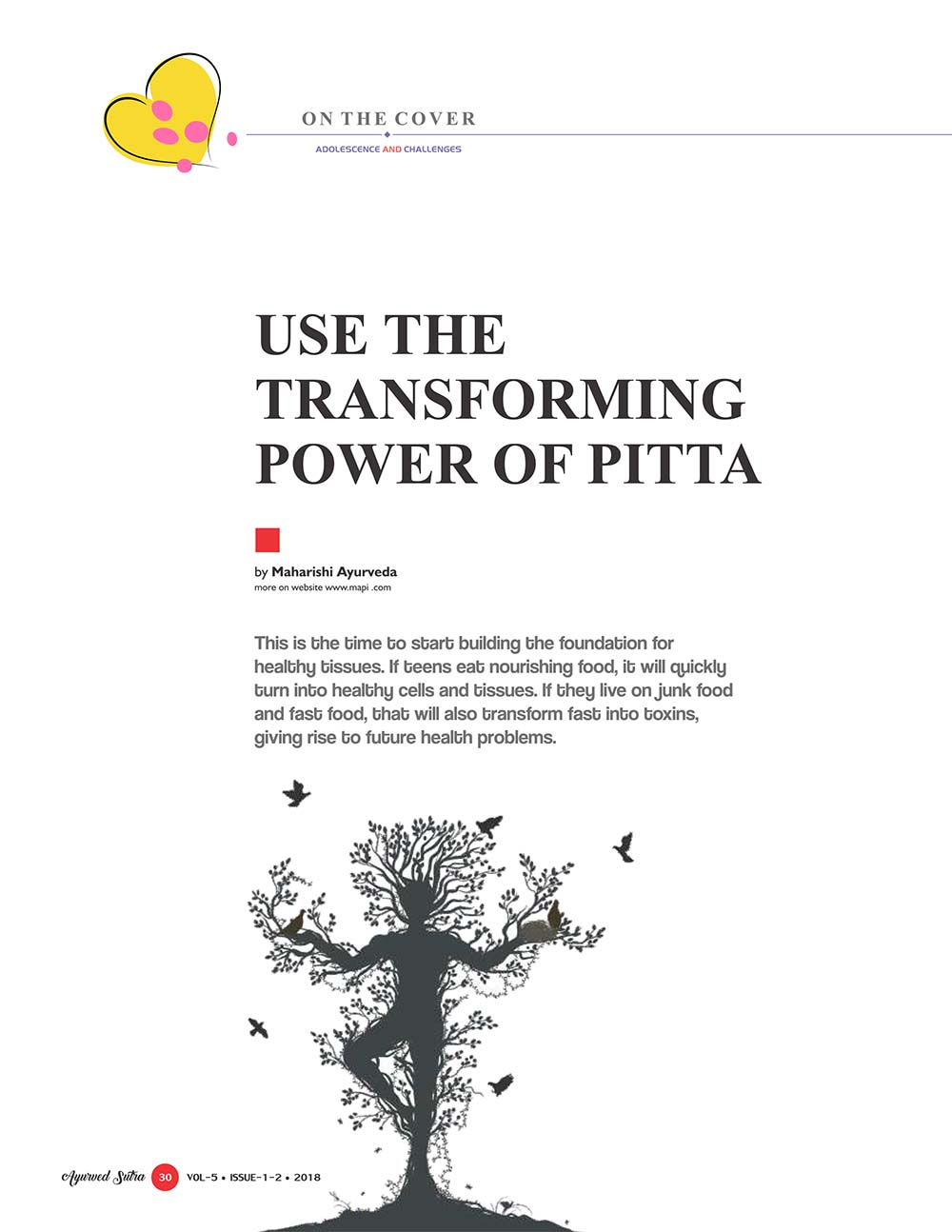 Ayurvedsutra Vol 05 issue 01 02 32 - Use the transforming power of Pitta