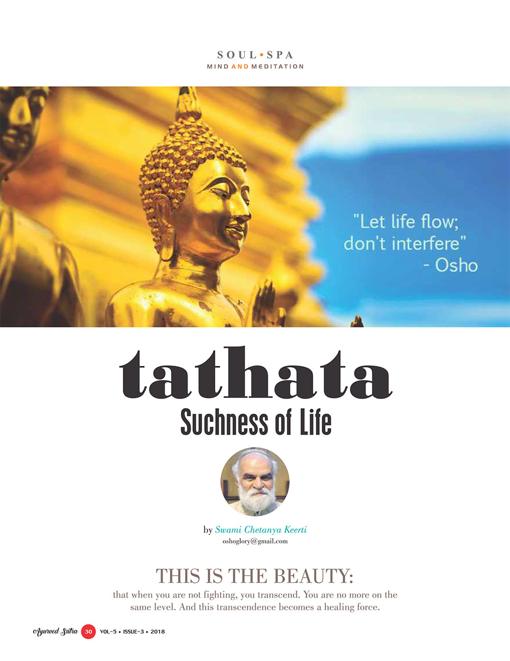 Ayurvedsutra Vol 05 issue 03 32 - Tathata: Suchness of Life