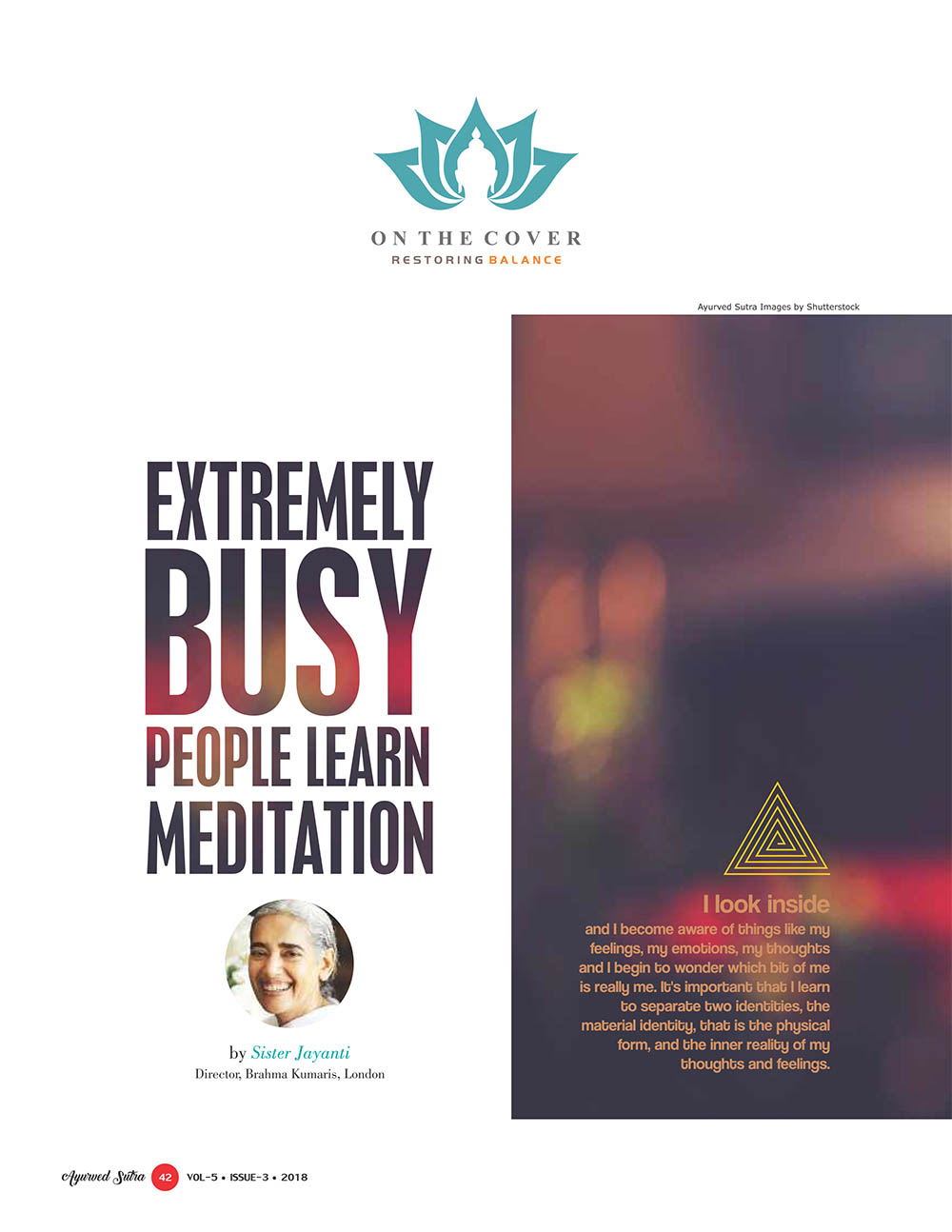 Ayurvedsutra Vol 05 issue 03 44 - Extremely Busy People Learn Meditation