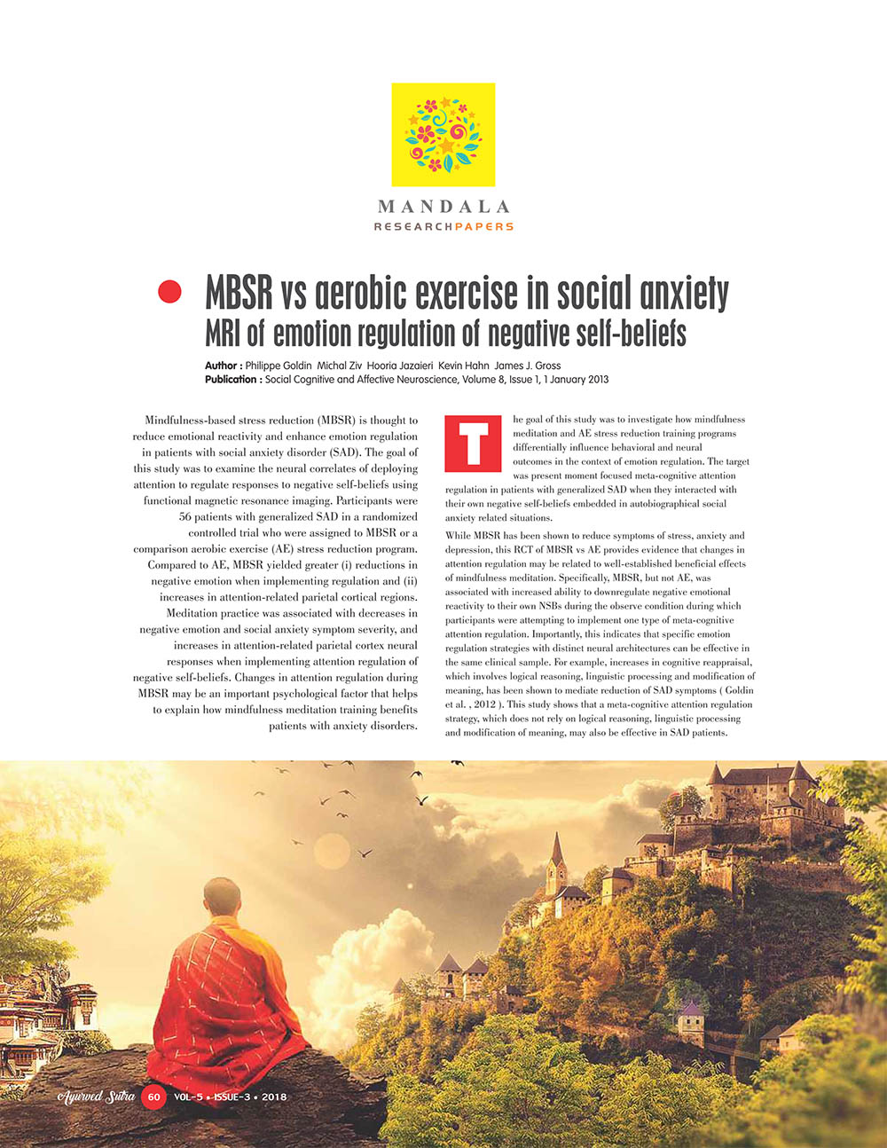 Ayurvedsutra Vol 05 issue 03 62 1 - MBSR vs aerobic exercise in social anxiety