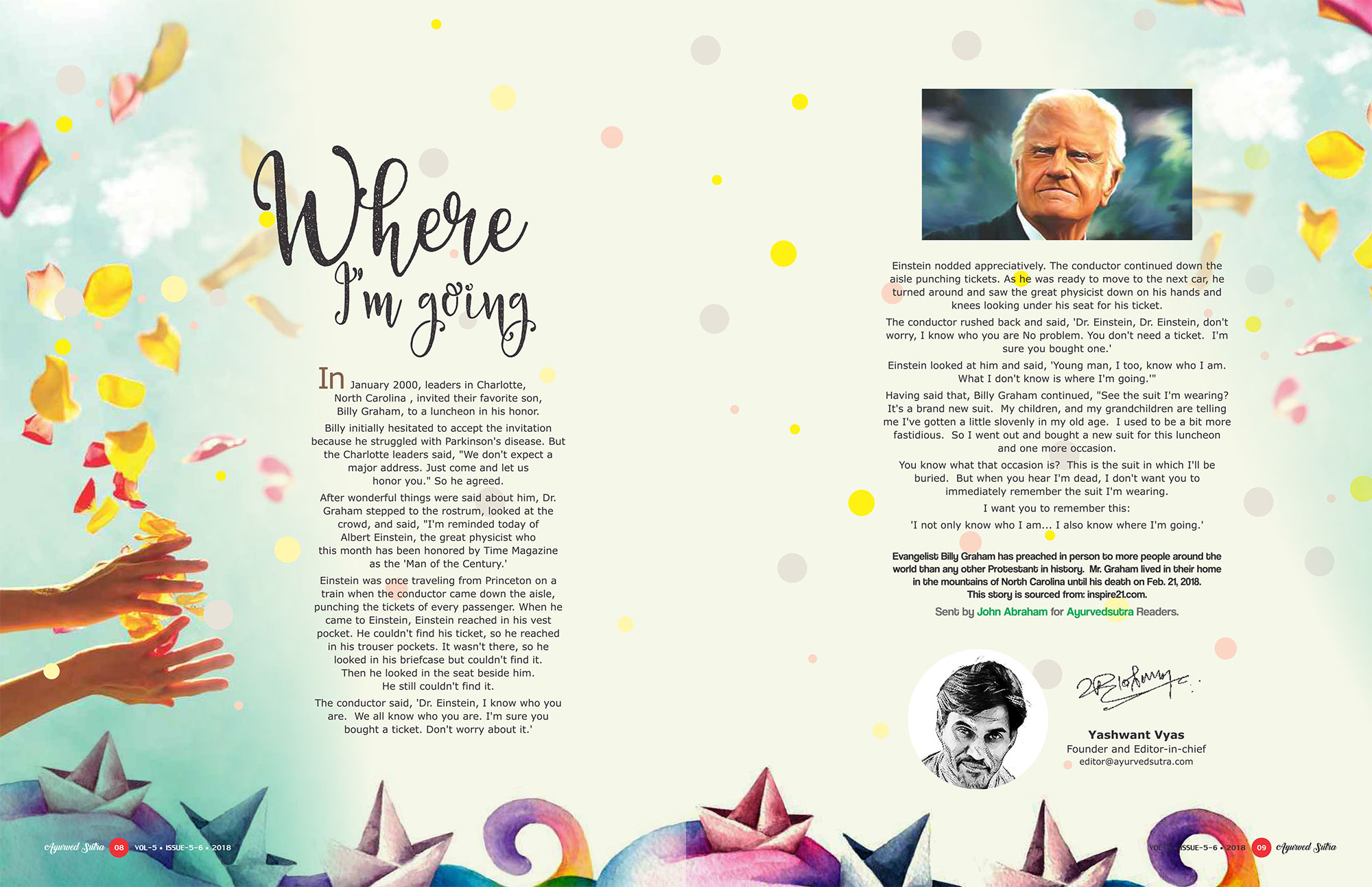 Ayurvedsutra Vol 05 issue 05 06 10 - Where I'm going