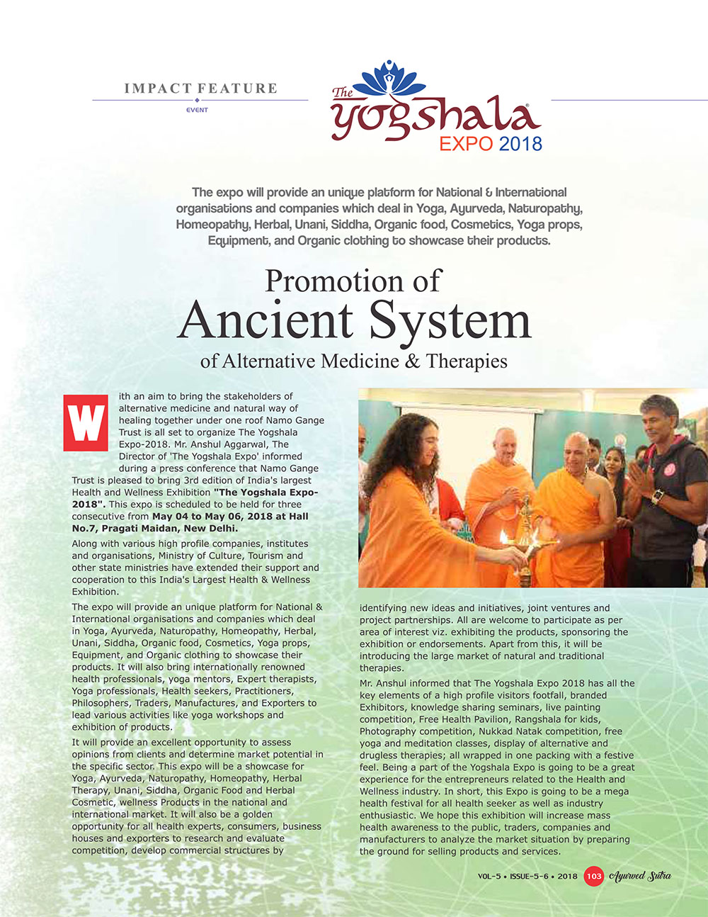 Ayurvedsutra Vol 05 issue 05 06 105 - Promotion of Ancient System of Alternative Medicine & Therapies