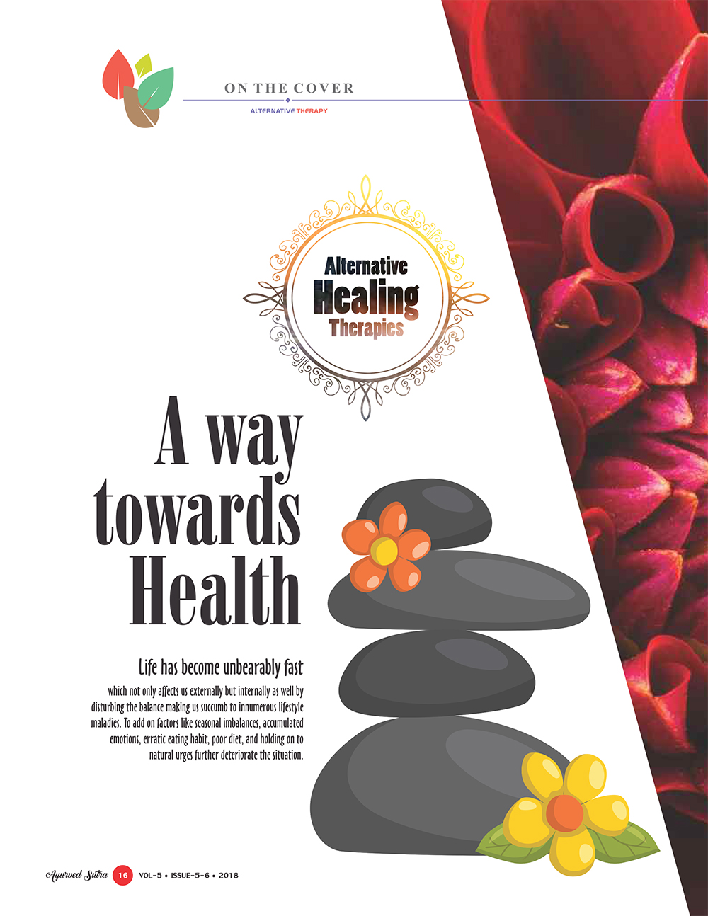 Ayurvedsutra Vol 05 issue 05 06 18 - Alternative Healing Therapies:  A way towards Health