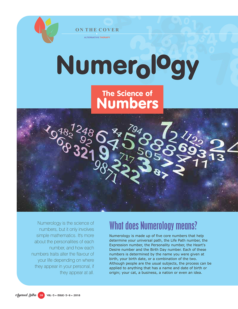 Ayurvedsutra Vol 05 issue 05 06 30 - Numerology: The Science of Numbers