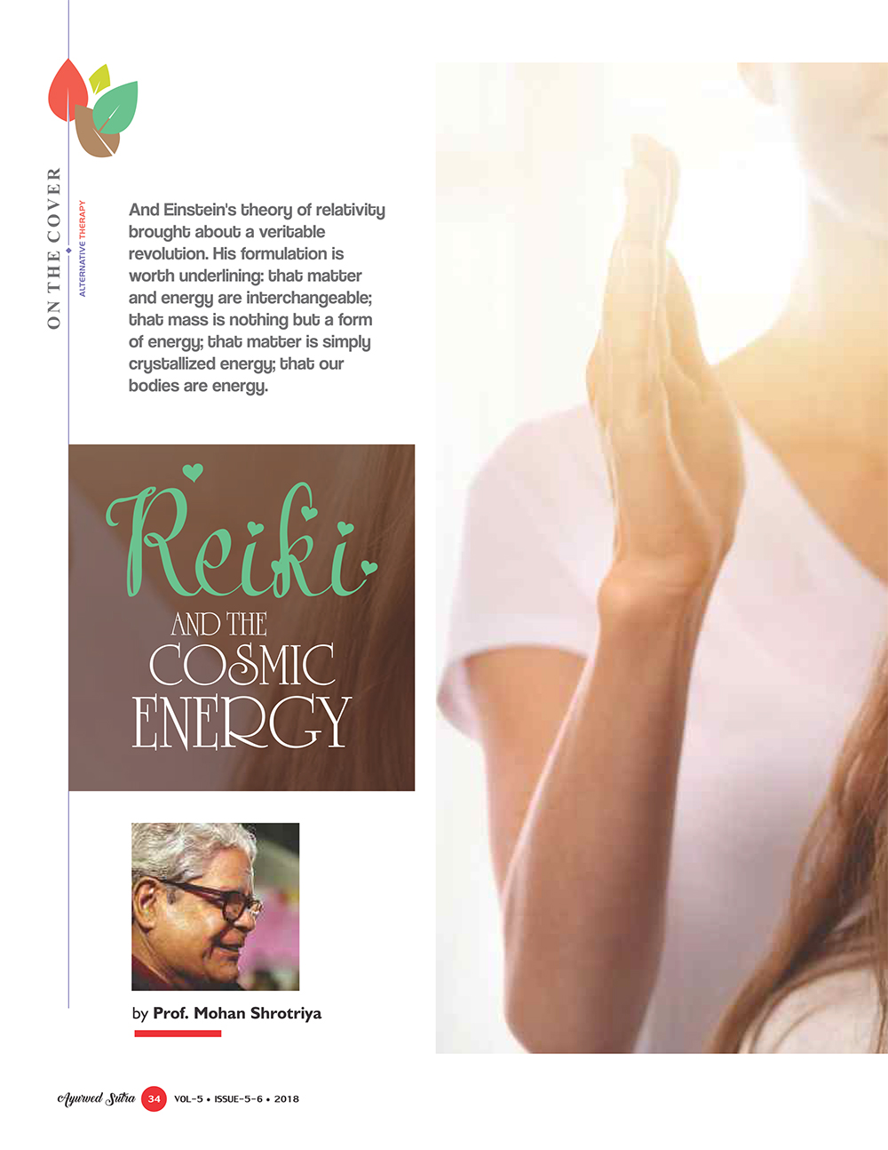 Ayurvedsutra Vol 05 issue 05 06 36 - Reiki and  the Cosmic Energy
