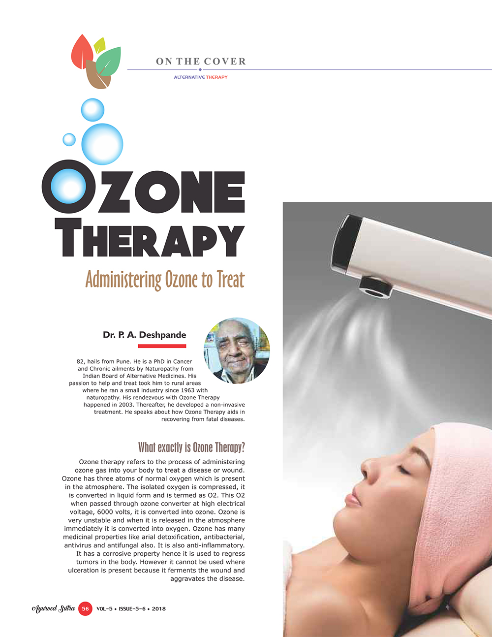 Ayurvedsutra Vol 05 issue 05 06 58 - Ozone Therapy:  Administering Ozone to Treat