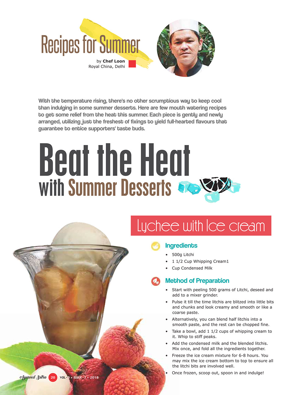 Ayurvedsutra Vol 05 issue 07 22 - Beat the Heat with Summer Desserts