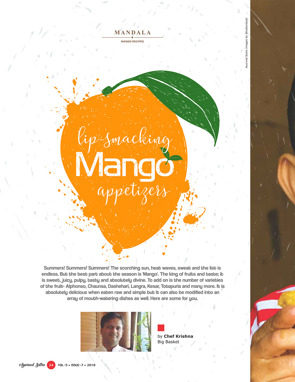 Ayurvedsutra Vol 05 issue 07 26 - Lip-Smacking Mango appetizers