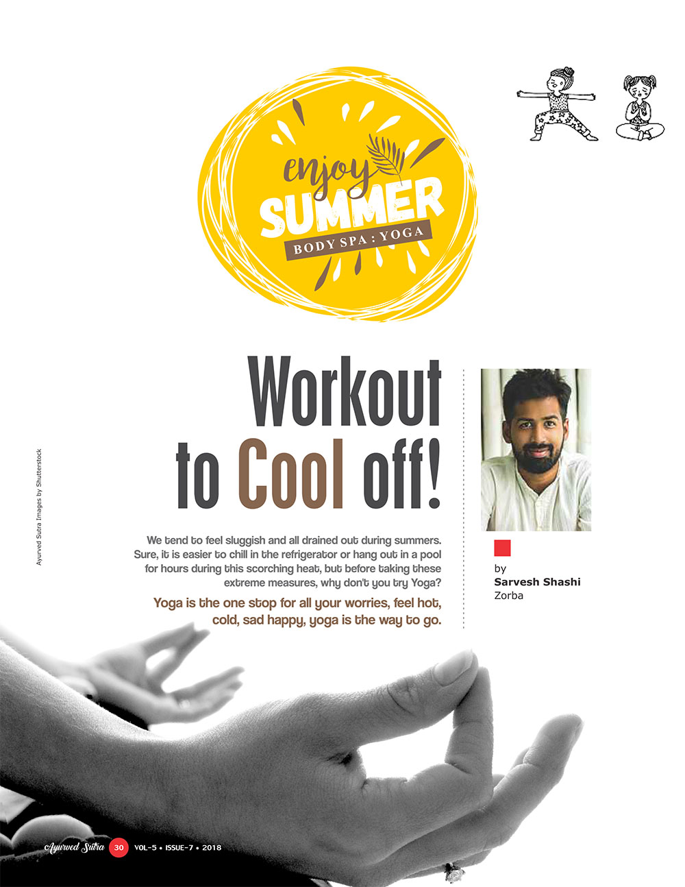 Ayurvedsutra Vol 05 issue 07 32 - Workout to Cool off!