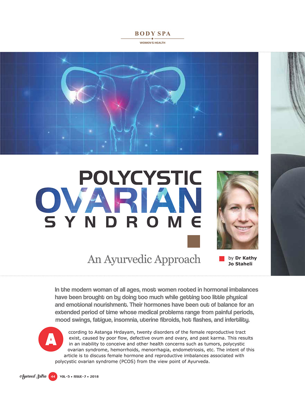 Ayurvedsutra Vol 05 issue 07 46 - Polycystic Ovarian Syndrome: An Ayurvedic Approach