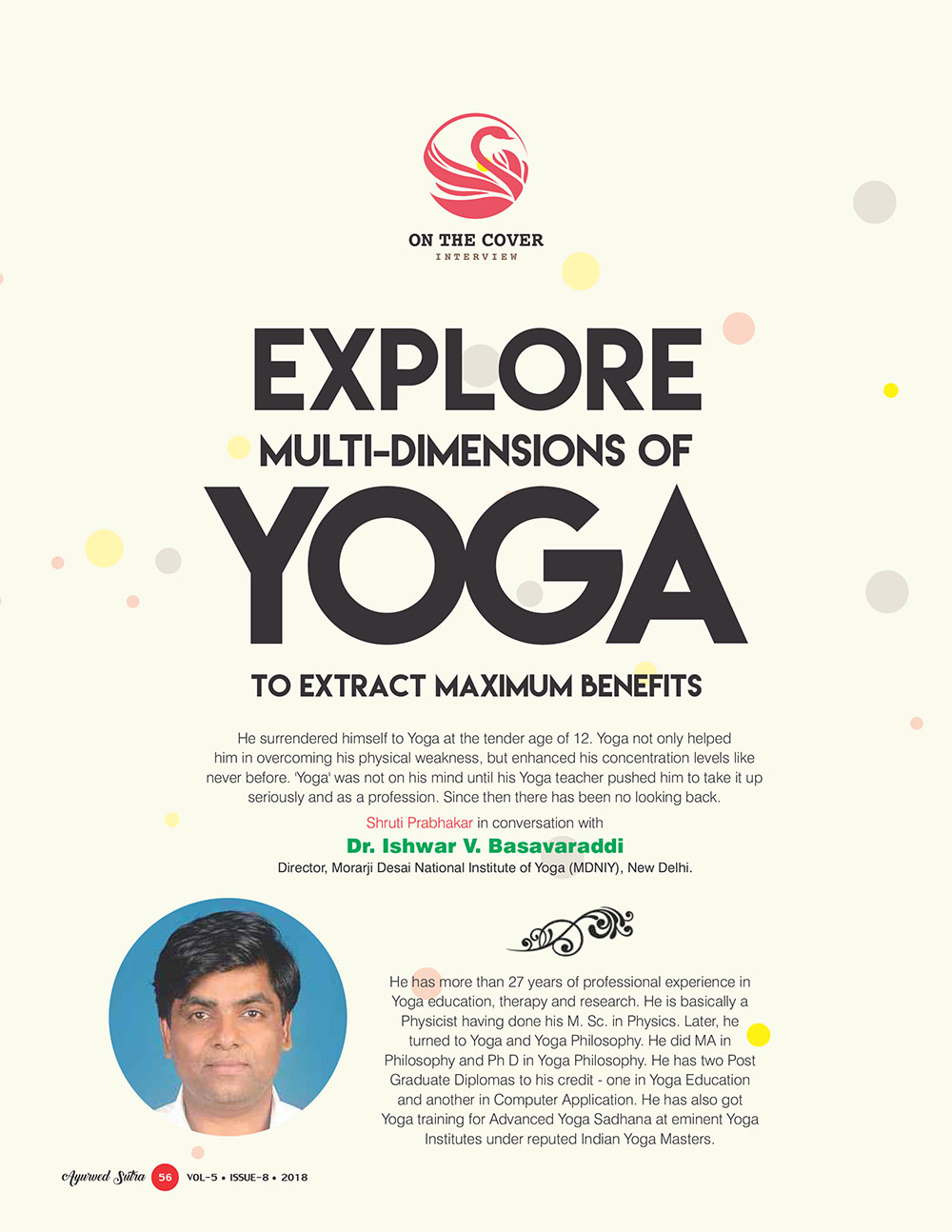 Ayurvedsutra Vol 05 issue 08 58 - Explore Multi-dimensions of Yoga