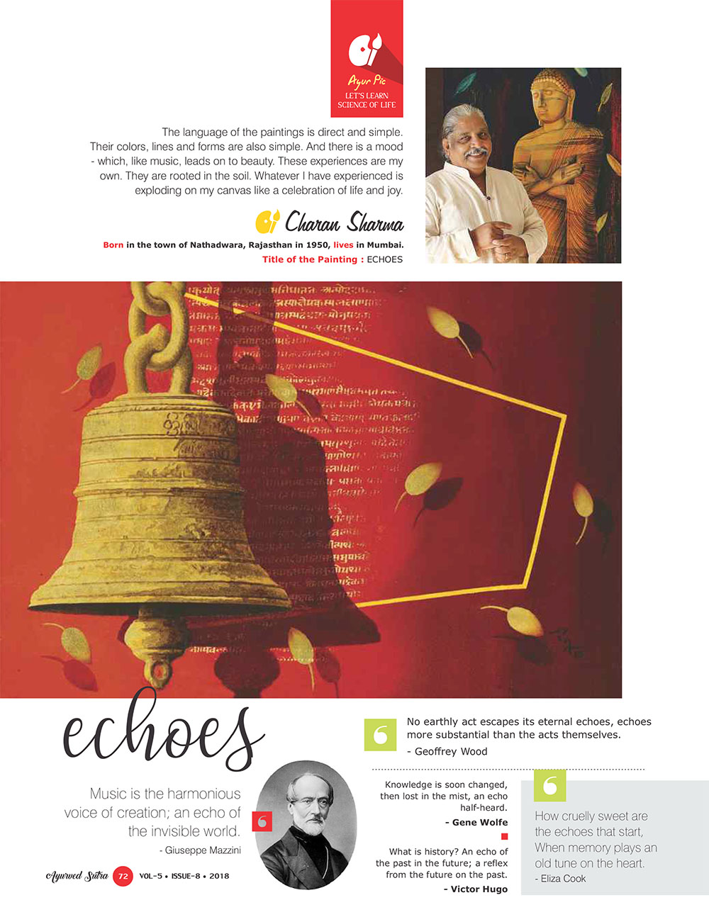 Ayurvedsutra Vol 05 issue 08 74 - Echoes