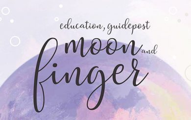 Education, Guidepost , Moon and Finger