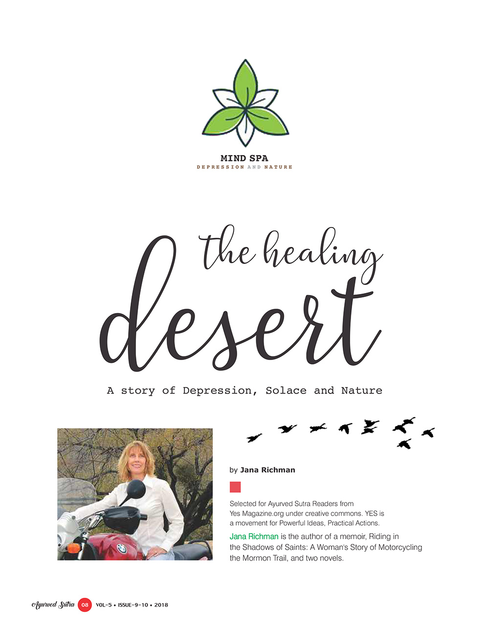 Ayurvedsutra Vol 05 issue 09 10 10 - The Healing Desert