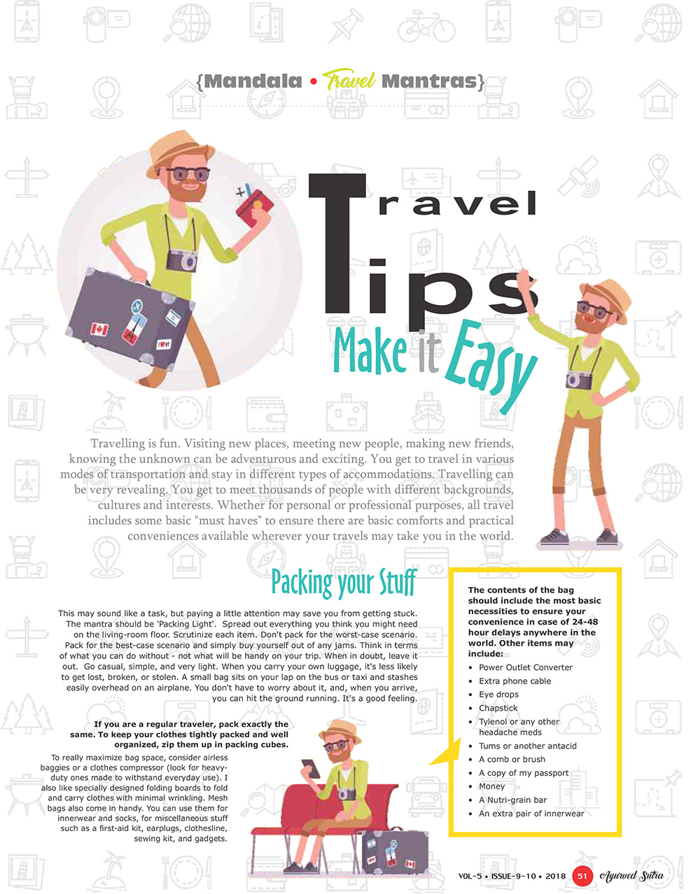 Ayurvedsutra Vol 05 issue 09 10 2 53 - Travel Tips: Make it Easy