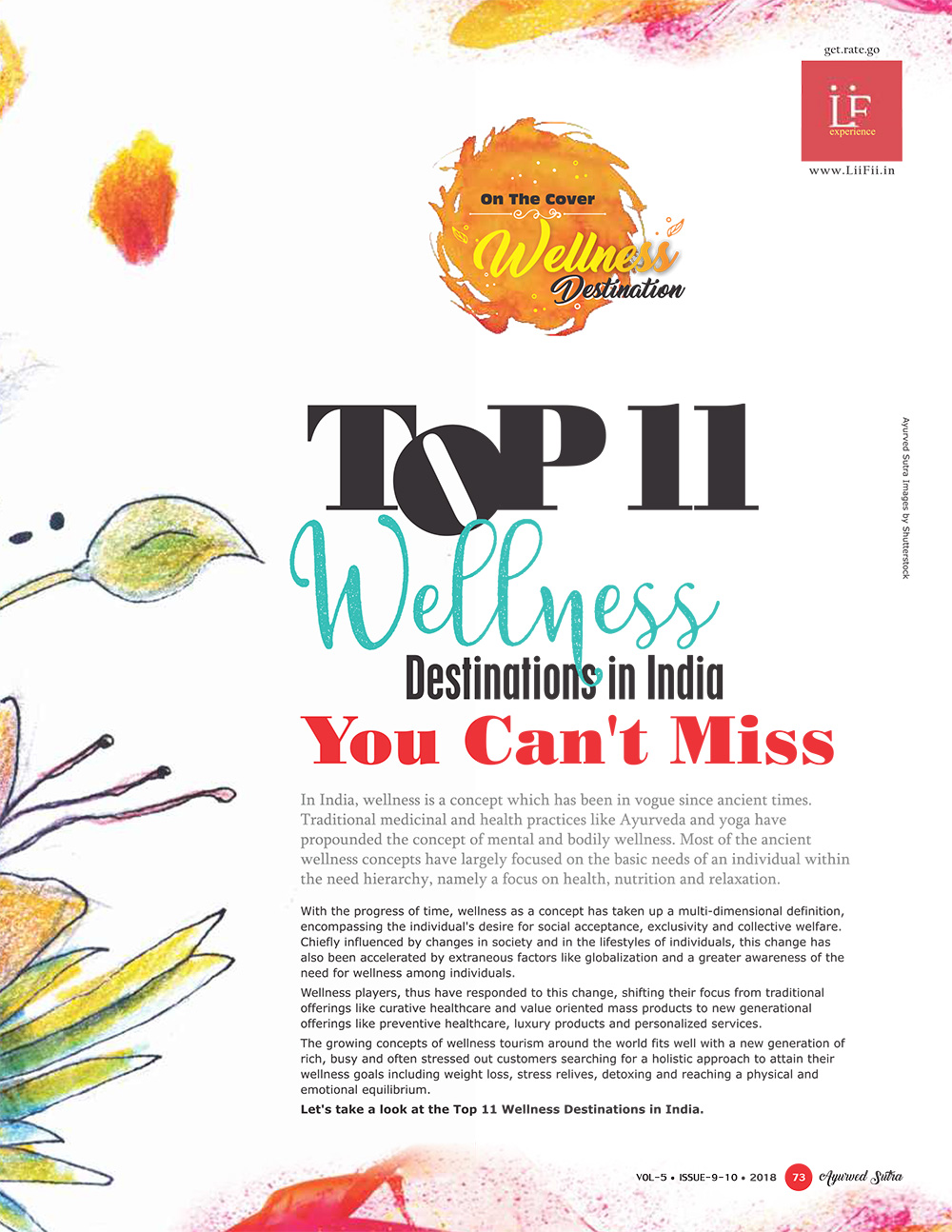 Ayurvedsutra Vol 05 issue 09 10 75 - Top 11 Wellness Destinations in India, You can't miss