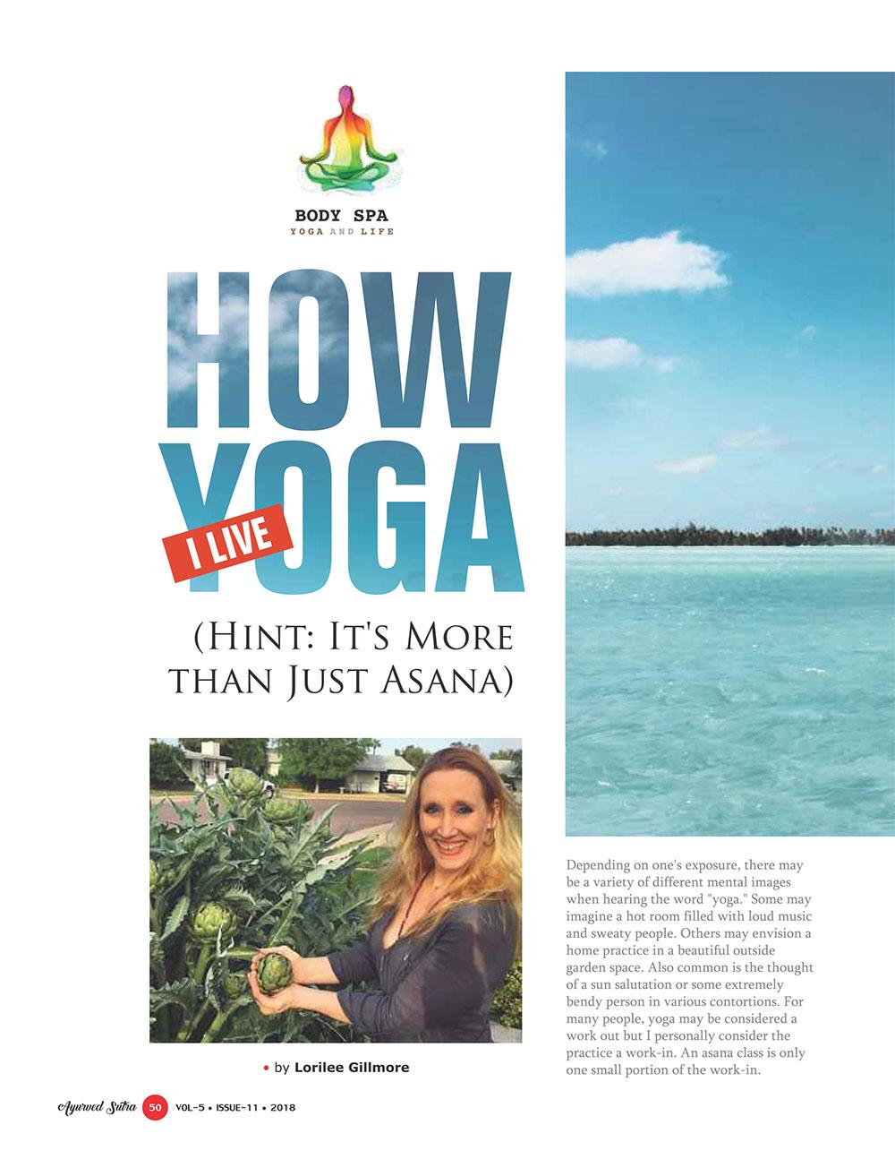 Ayurvedsutra Vol 05 issue 11 52 - How I Live Yoga