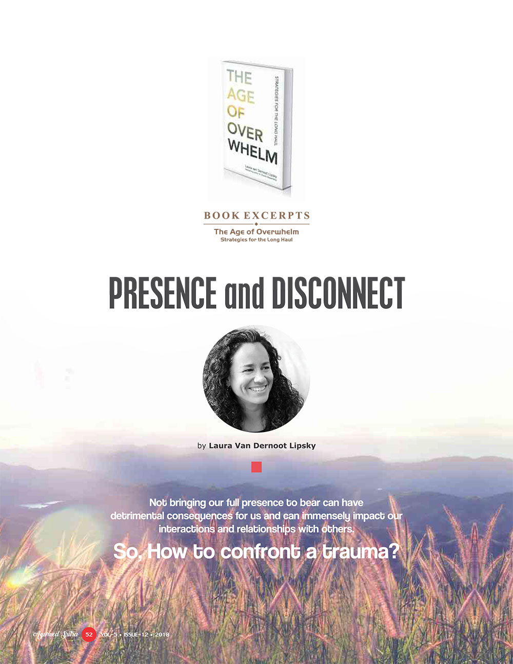 Ayurvedsutra Vol 05 issue 12 54 - PRESENCE and DISCONNECT
