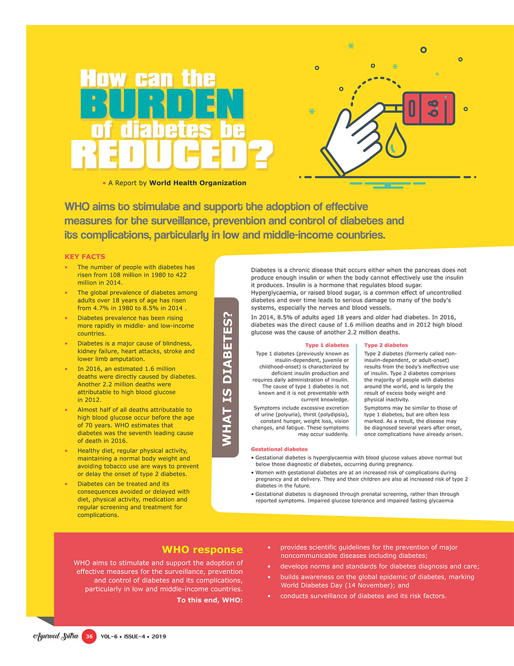 Ayurvedsutra Vol 06 issue 04 38 - How can the burden of diabetes be reduced?