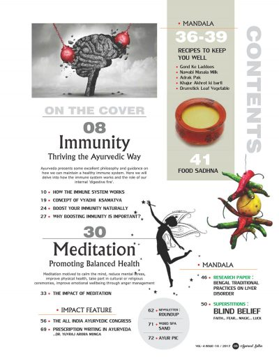 Ayurvedsutra Vol 04 issue 10 7 400x518 - Ayurved Sutra : Immunity : Thriving The Ayurvedic Way