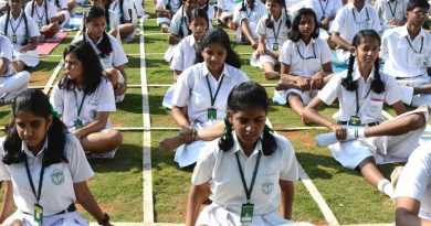 yoga in schools 390x205 - Make yoga compulsory in schools & colleges: Shripad Yesso Naik to HRD Ministry