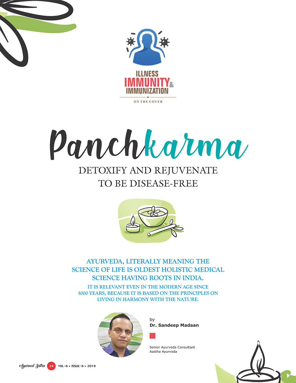 Ayurvedsutra Vol 06 issue 06 26 - Panchkarma: Detoxify and Rejuvenate to be disease-free