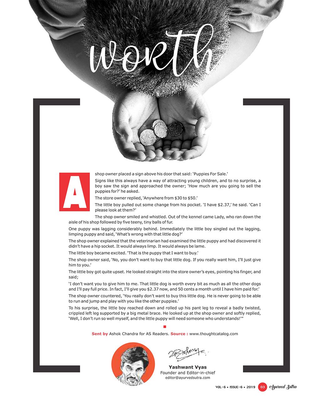 Ayurvedsutra Vol 06 issue 06 5 - Worth