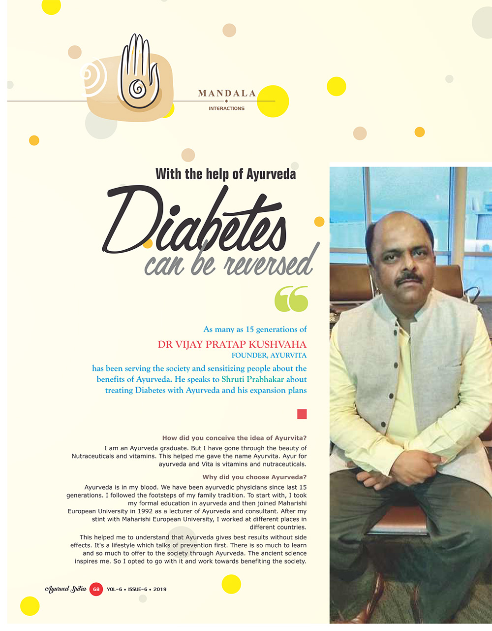 Ayurvedsutra Vol 06 issue 06 70 - Diabetes can be reversed