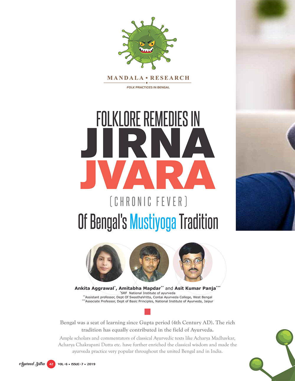 Ayurvedsutra Vol 06 issue 07 44 - Folklore remedies in Jirna Jvara (Chronic Fever) of Bengal's Mustiyoga Tradition