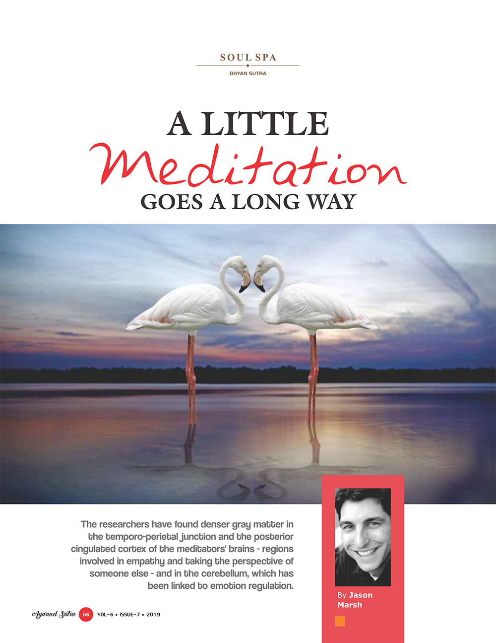Ayurvedsutra Vol 06 issue 07 68 - A Little Meditation goes a Long way
